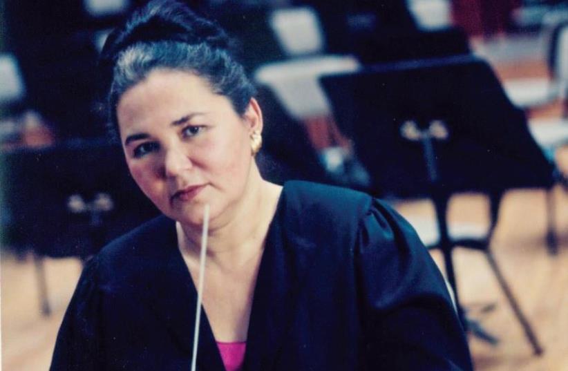 Conductor Anita Kamien (photo credit: HEBREW UNIVERSITY ORCHESTRA)