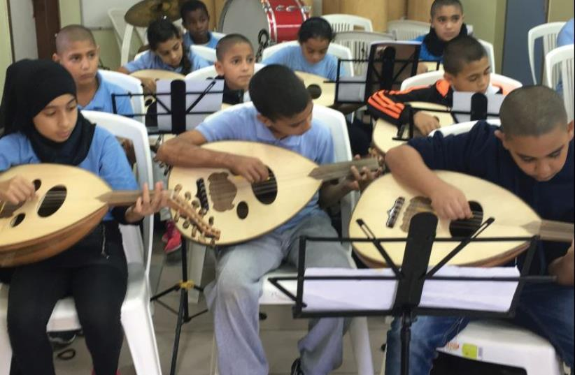 The oud section of Sulamot's classical Arab orchestra (photo credit: COURTESY SULAMOT)