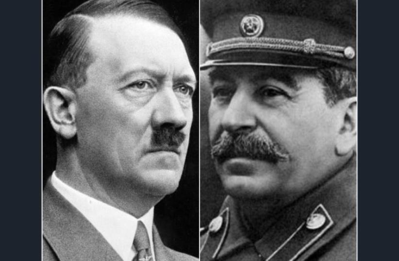 Adolf Hitler and Joseph Stalin (photo credit: Courtesy)