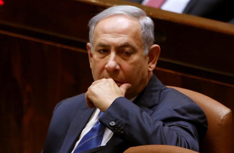 Prime Minister Benjamin Netanyahu at the Knesset (photo credit: REUTERS)