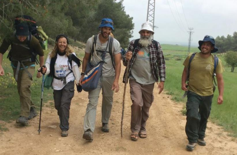 OUR GUIDE Yair (second from right) pointed out the sites of a number of biblical stories. (photo credit: Courtesy)