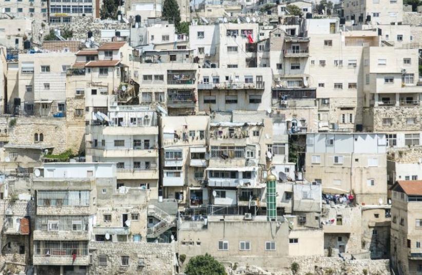 The Haphazard homes in the majority-Arab neighborhood of Silwan (photo credit: SARAH LEVI)
