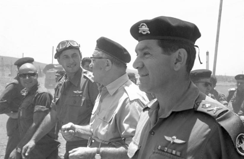 Prime Minister Levi Eshkol visits the front (photo credit: IDF ARCHIVES, DEFENSE MINISTRY)