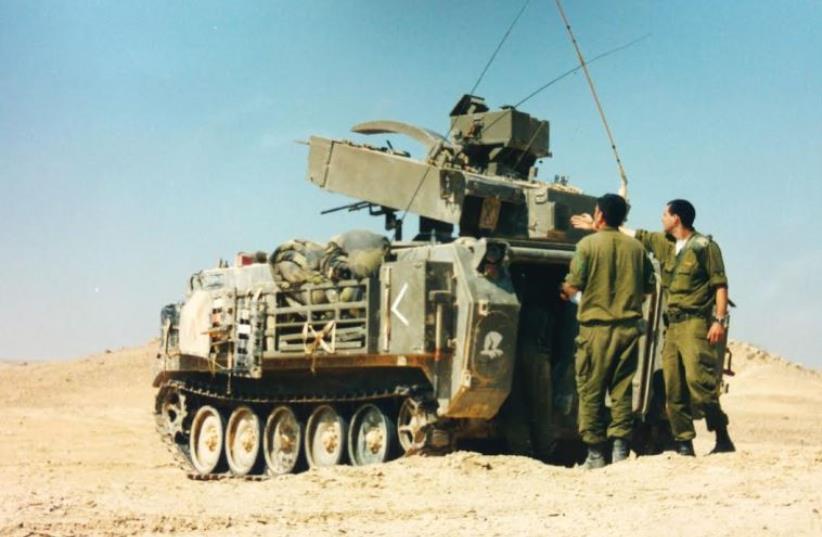 Hafiz missile launcher, used to fire the Tamuz (photo credit: IDF SPOKESMAN'S UNIT)
