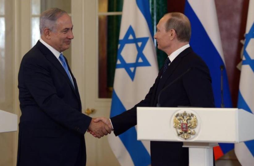Prime Minister Benjamin Netanyahu and Russian President Vladimir Putin (photo credit: GPO)