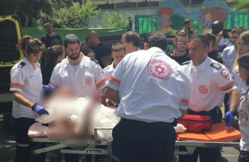Child hurt in explosion, cause unknown (photo credit: MDA)