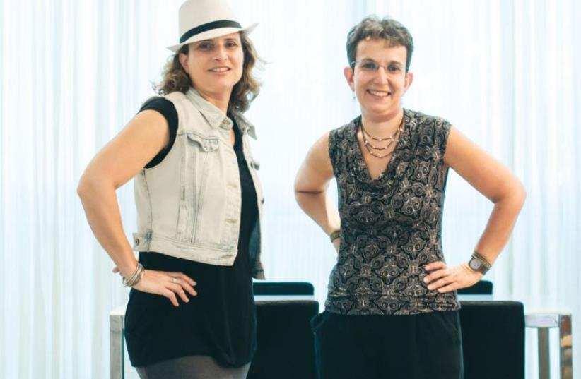 Eve Jacobs (left), with her business partner Nadia Levene, became an entrepreneur with Jerusalem Holiday Homes (photo credit: YITZ WOOLF)