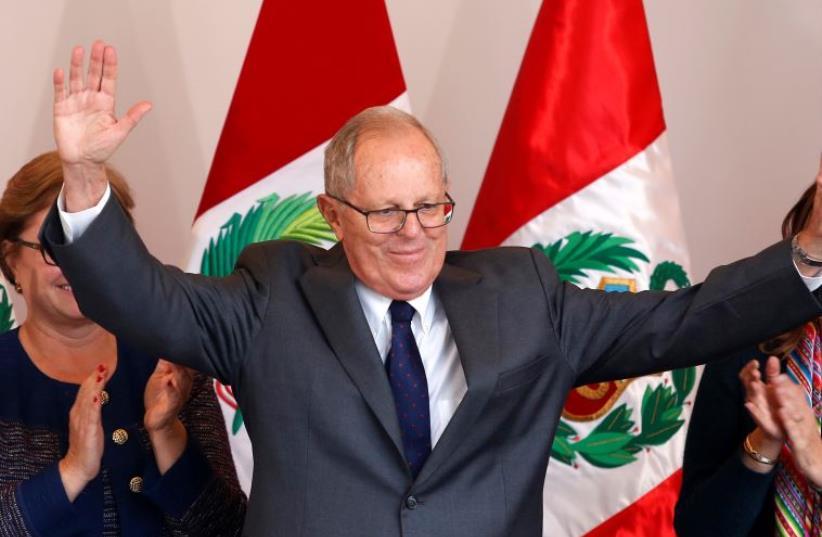 Peruvian President Pedro Pablo Kuczynski (photo credit: REUTERS)