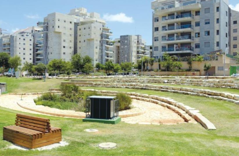 BENEATH KFAR SABA'S Yarok neighborhood the local hybrid biofilter quietly purifies the town's groundwater. (photo credit: YOSSI ZELIGER)