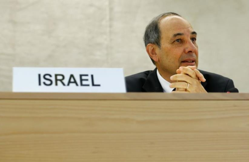 Israel's Ambassador to the UN in Geneva Eviatar Manor (photo credit: REUTERS)