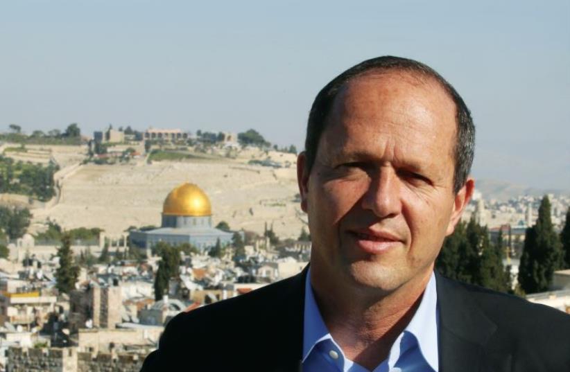 Mayor Nir Barkat at the Jerusalem Marathon press conference this past March (photo credit: MARC ISRAEL SELLEM)
