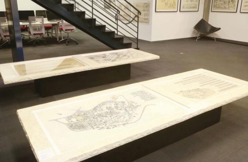 THE 'LANDSCAPE of Memory' exhibit at Tel Aviv Museum of Art's Azrieli Architectural Archive. (photo credit: YAEL TZUR)