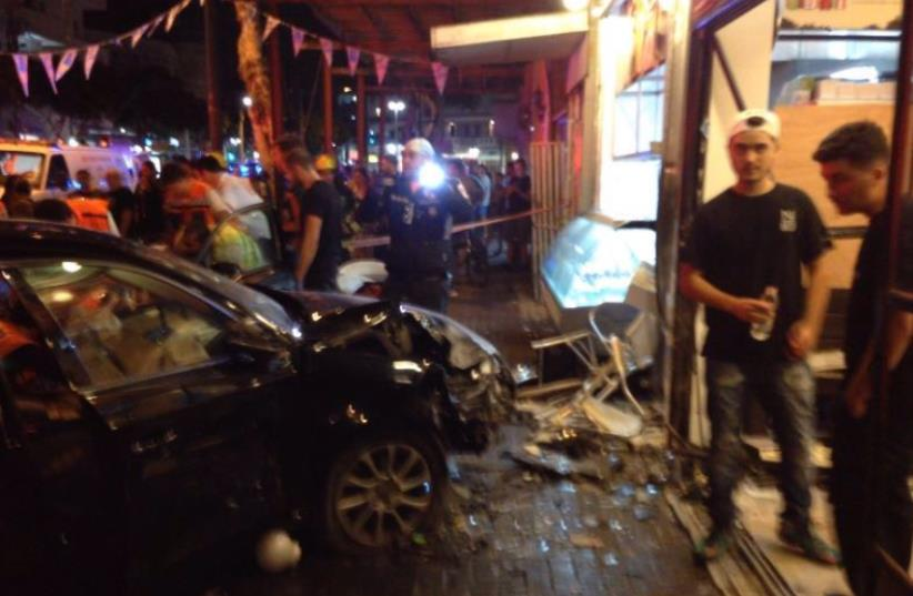 Crash on Ben Yehuda Street (photo credit: MDA)