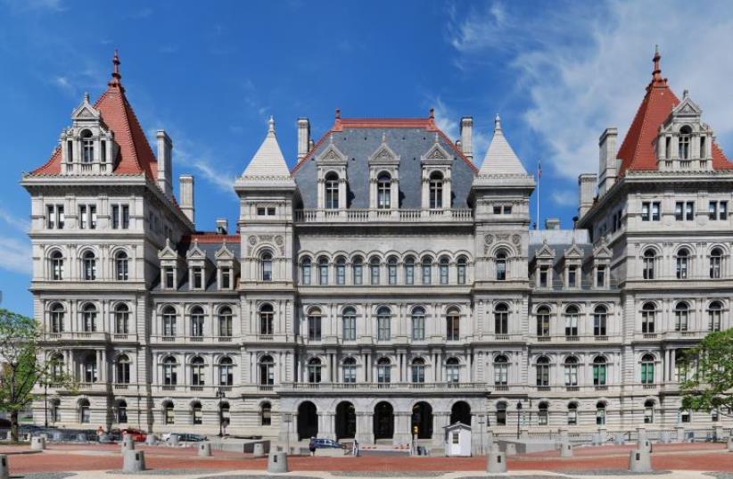 New York State Capitol in Albany (photo credit: MATT WADE/WIKIMEDIA COMMONS)