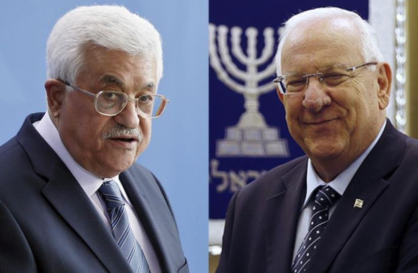 Rivlin and Abbas (photo credit: REUTERS)