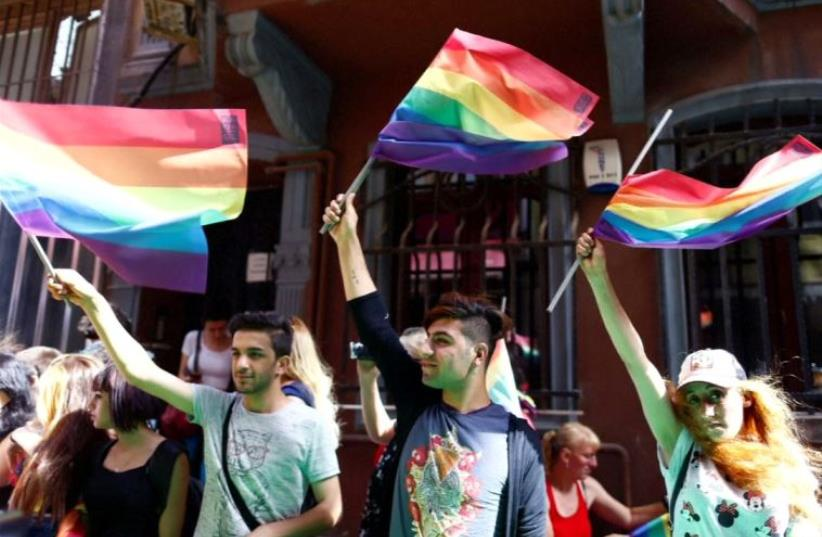"Istanbul riot police disperse ""Trans Pride"" march (photo credit: REUTERS)"