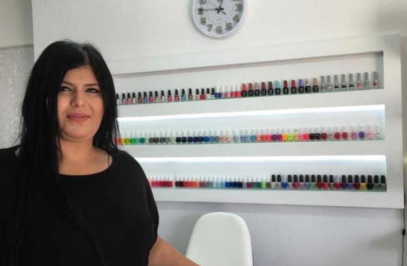 Mara Bachari opened up her own mani-pedi salon this year (photo credit: NIV ELIS)