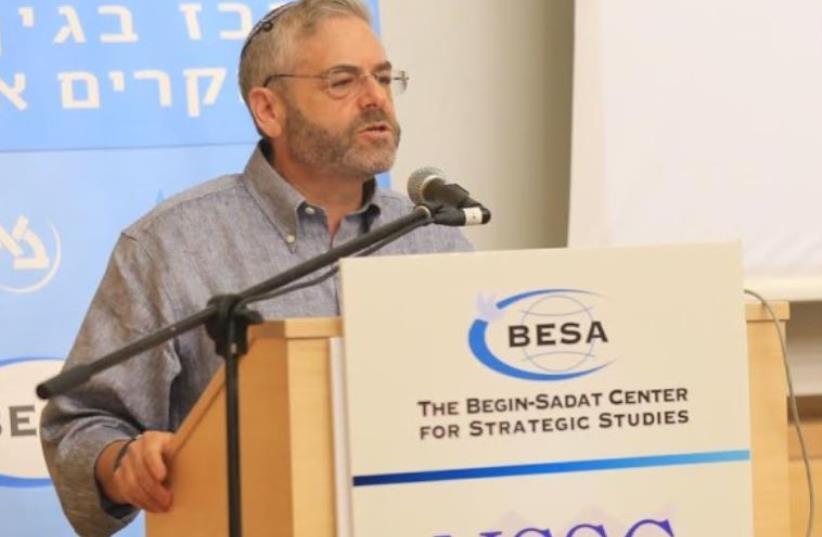 The BESA Center Prof. Joshua Teitelbaum speaking at international conference at Bar-Ilan University (photo credit: YONI REIF)