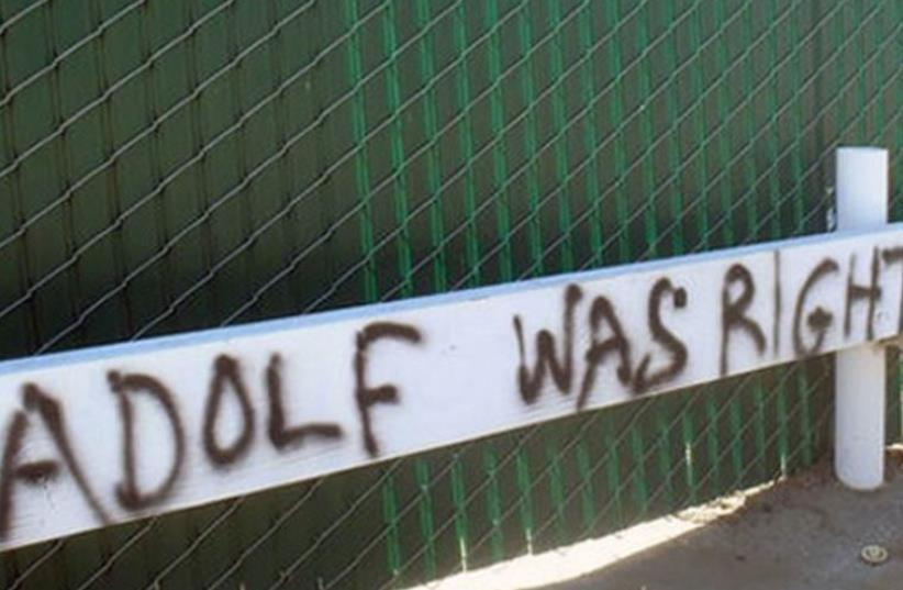 Anti-Semitic graffiti in Los Angeles (photo credit: ADL)