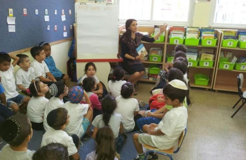 Students at the Dizengoff School in South Tel Aviv (photo credit: THE CENTER FOR INNOVATION IN EDUCATION)