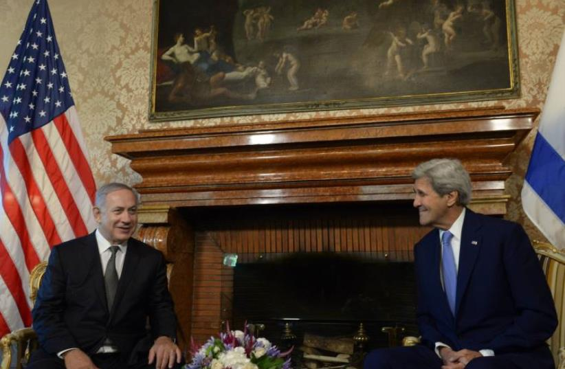 Netanyahu and Kerry meet in Rome in June. (photo credit: AMOS BEN-GERSHOM/GPO)
