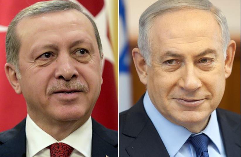 Netanyahu and Erdogan (photo credit: REUTERS)
