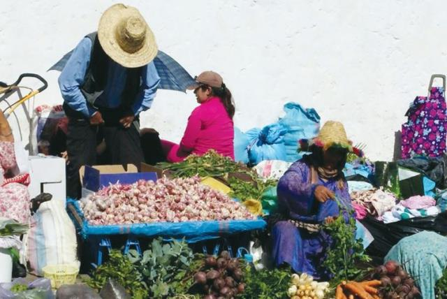 The colorful produce at a market in Morocco (photo credit: AYA MASSIAS)