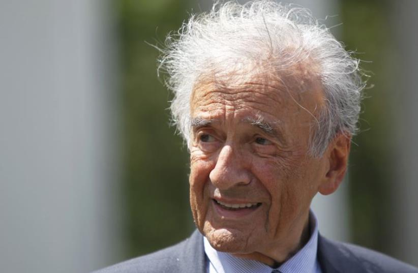Writer, Nobel Laureate and holocaust survivor Elie Wiesel (photo credit: REUTERS)