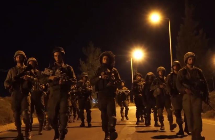 IDF raid in Hebron (photo credit: screenshot)