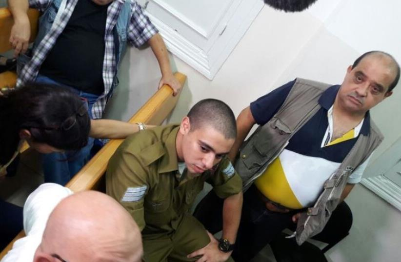 Trial of IDF Sgt. Elor Azaria, July 5, 2016 (photo credit: YONAH JEREMY BOB)