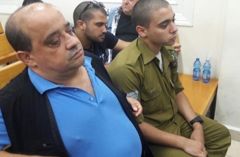 Trial of IDF Sgt. Elor Azaria, July 6, 2016 (photo credit: YONAH JEREMY BOB)