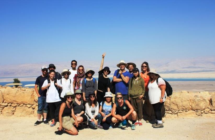 The International MA students at Masada (photo credit: TEL AVIV UNIVERSITY INTERNATIONAL PROGRAM IN ANCIENT ISRAEL STUDIES: ARCHAEOLOGY AND HISTORY OF THE)