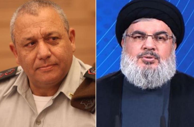 Eisenkot and Nasrallah (photo credit: AFP PHOTO,MARC ISRAEL SELLEM)