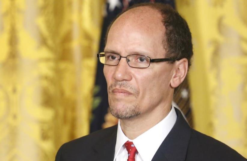 Former US labor secretary Tom Perez. (photo credit: REUTERS)