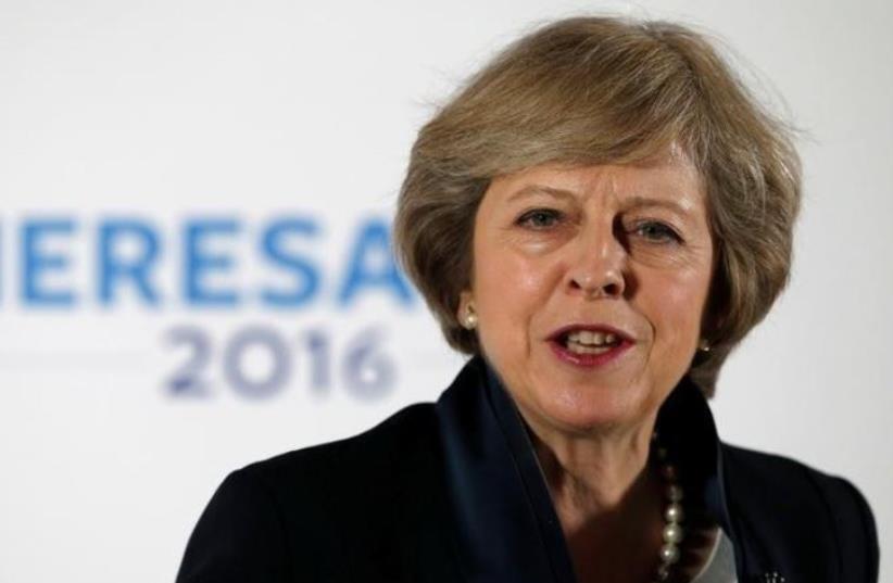 British PM Theresa May (photo credit: REUTERS)