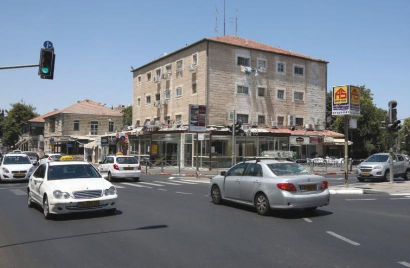 Emek Refaim Street today, where it intersects with Rachel Imenu Street (photo credit: MARC ISRAEL SELLEM)
