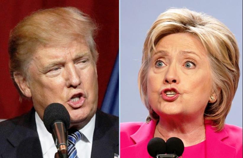 Trump and Clinton (photo credit: REUTERS)