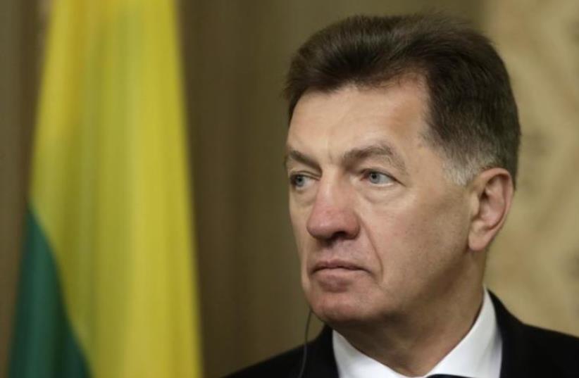 Lithuania's Prime Minister Algirdas Butkevicius. (photo credit: REUTERS)
