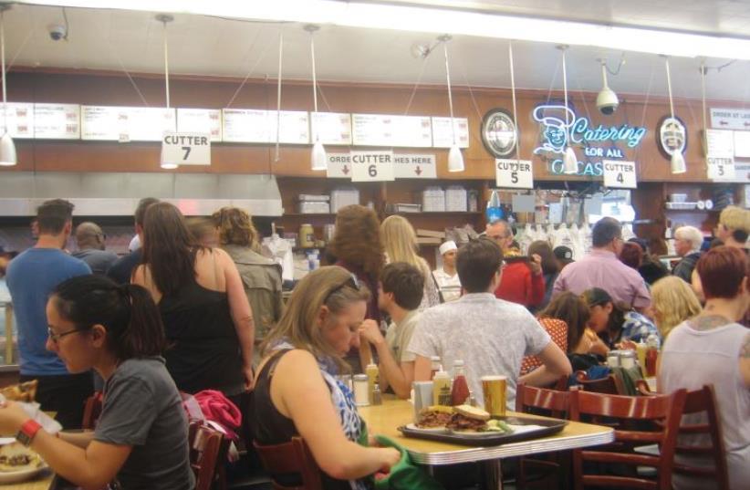 AFICIONADOS OF JEWISH deli food head to Katz's Delicatessen, on East Houston Street (photo credit: BEN G. FRANK)