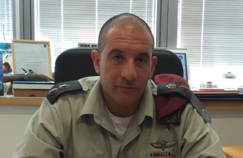 Lt.-Col. David Tapuhi, head of the Doctrine and Training Department in the IDF C4I Branch (photo credit: IDF SPOKESPERSON'S UNIT)