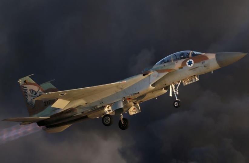 Israeli f-15 fighter jet (photo credit: REUTERS)