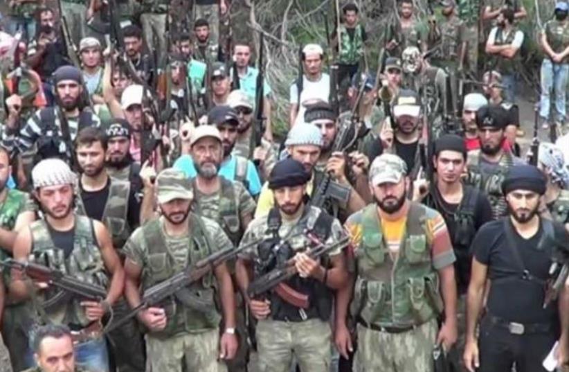 Nour al-Din al-Zinki Syrian rebel group (photo credit: ARAB MEDIA)
