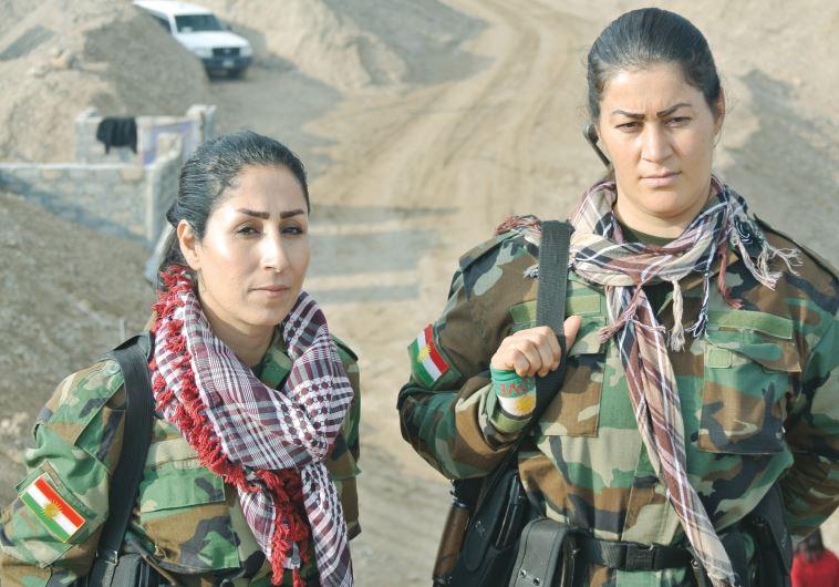 Kurdistan freedom Party (PAK) soldiers in December 2015 at the front line near Kirkuk, Iraq  SETH J. FRANTZMAN