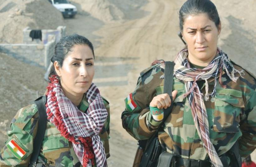 Kurdistan freedom Party (PAK) soldiers in December 2015 at the front line near Kirkuk, Iraq (photo credit: SETH J. FRANTZMAN)