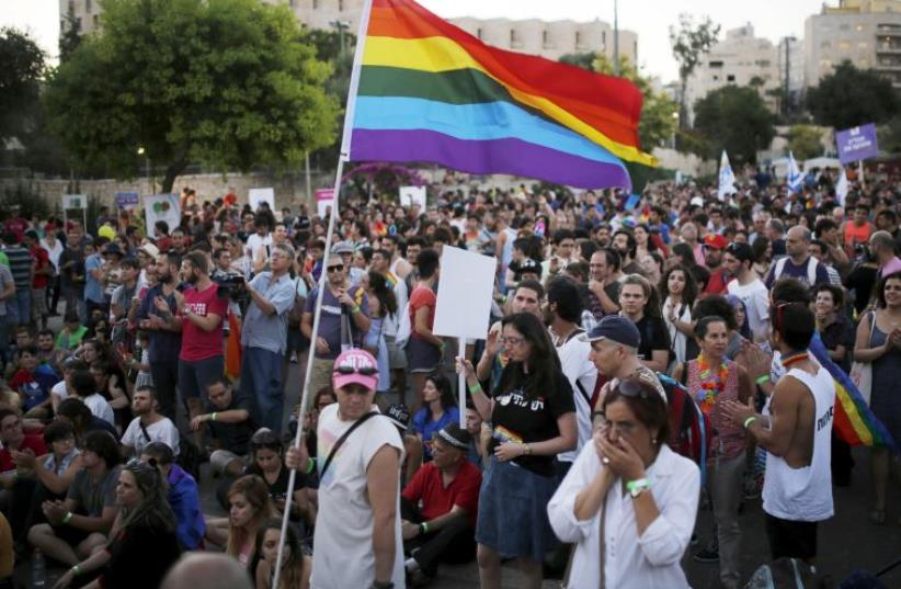 Jerusalem annual gay pride parade (photo credit: REUTERS)