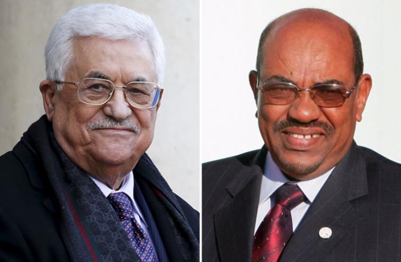 Abbas and Al-Bashir  (photo credit: REUTERS)