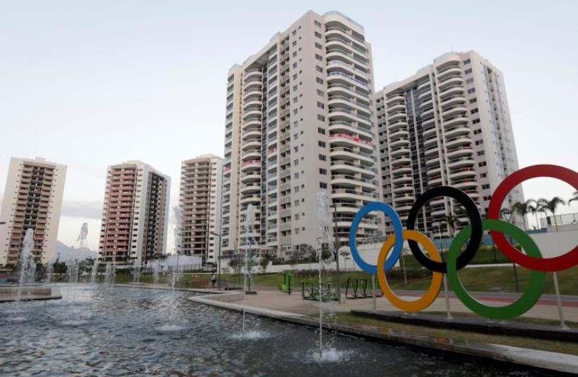 General view of athletes' accommodation for the 2016 Rio Olympics Village in Rio de Janeiro, Brazil (photo credit: REUTERS)