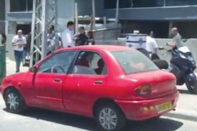 THE VEHICLE in Ashdod where a baby died of heat stroke after being left for hours in the sun. (photo credit: screenshot)