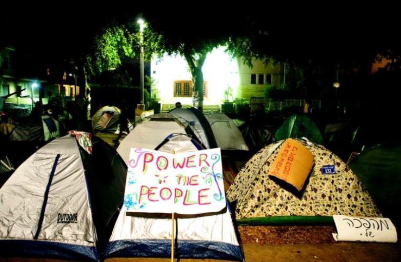 Les tentes de la révolte (photo credit: REUTERS)