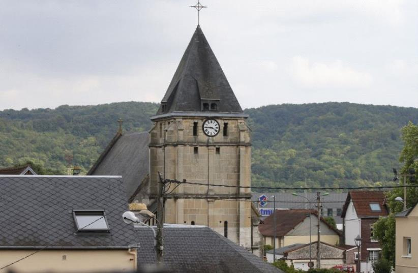 ISIS militants attack church in Normandy, France (photo credit: REUTERS)